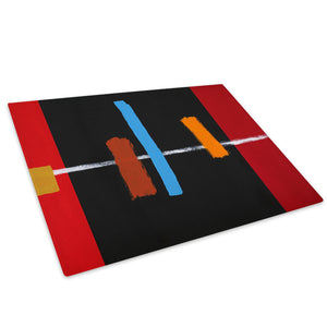 Black Red Blue Cool Glass Chopping Board Kitchen Worktop Saver Protector - AB459-Abstract Chopping Board-WhatsOnYourWall