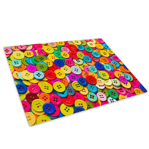 Colourful Retro Cool Glass Chopping Board Kitchen Worktop Saver Protector - AB461-Abstract Chopping Board-WhatsOnYourWall