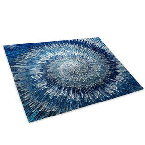 Blue Grey Retro Cool Glass Chopping Board Kitchen Worktop Saver Protector - AB462-Abstract Chopping Board-WhatsOnYourWall