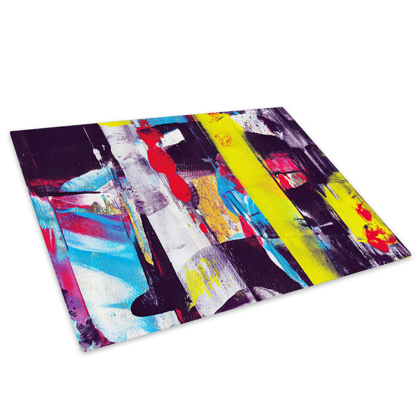 Colourful Retro Cool Glass Chopping Board Kitchen Worktop Saver Protector - AB467-Abstract Chopping Board-WhatsOnYourWall