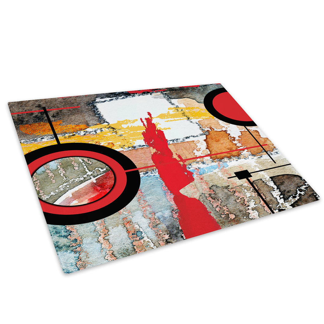 Colourful Retro Cool Glass Chopping Board Kitchen Worktop Saver Protector - AB471-Abstract Chopping Board-WhatsOnYourWall