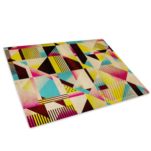Yellow Black Pink Glass Chopping Board Kitchen Worktop Saver Protector - AB474-Abstract Chopping Board-WhatsOnYourWall
