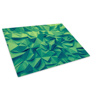 Green Geometric Cool Glass Chopping Board Kitchen Worktop Saver Protector - AB477-Abstract Chopping Board-WhatsOnYourWall