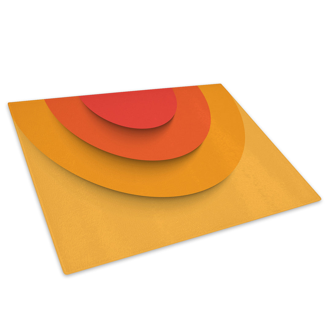 Orange Yellow Retro Glass Chopping Board Kitchen Worktop Saver Protector - AB481-Abstract Chopping Board-WhatsOnYourWall