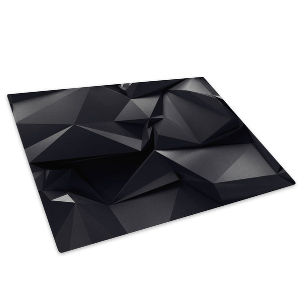 Black Geometric Cool Glass Chopping Board Kitchen Worktop Saver Protector - AB482-Abstract Chopping Board-WhatsOnYourWall