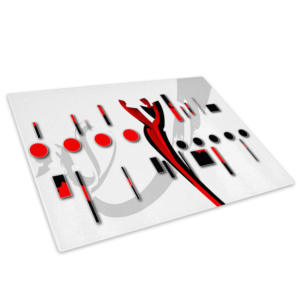 Red Black White Cool Glass Chopping Board Kitchen Worktop Saver Protector - AB488-Abstract Chopping Board-WhatsOnYourWall