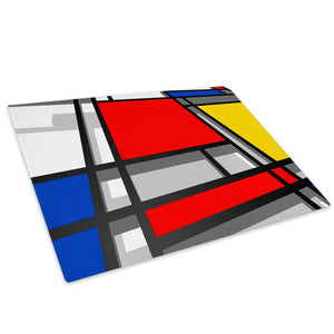 Retro Colourful Cool Glass Chopping Board Kitchen Worktop Saver Protector - AB489-Abstract Chopping Board-WhatsOnYourWall
