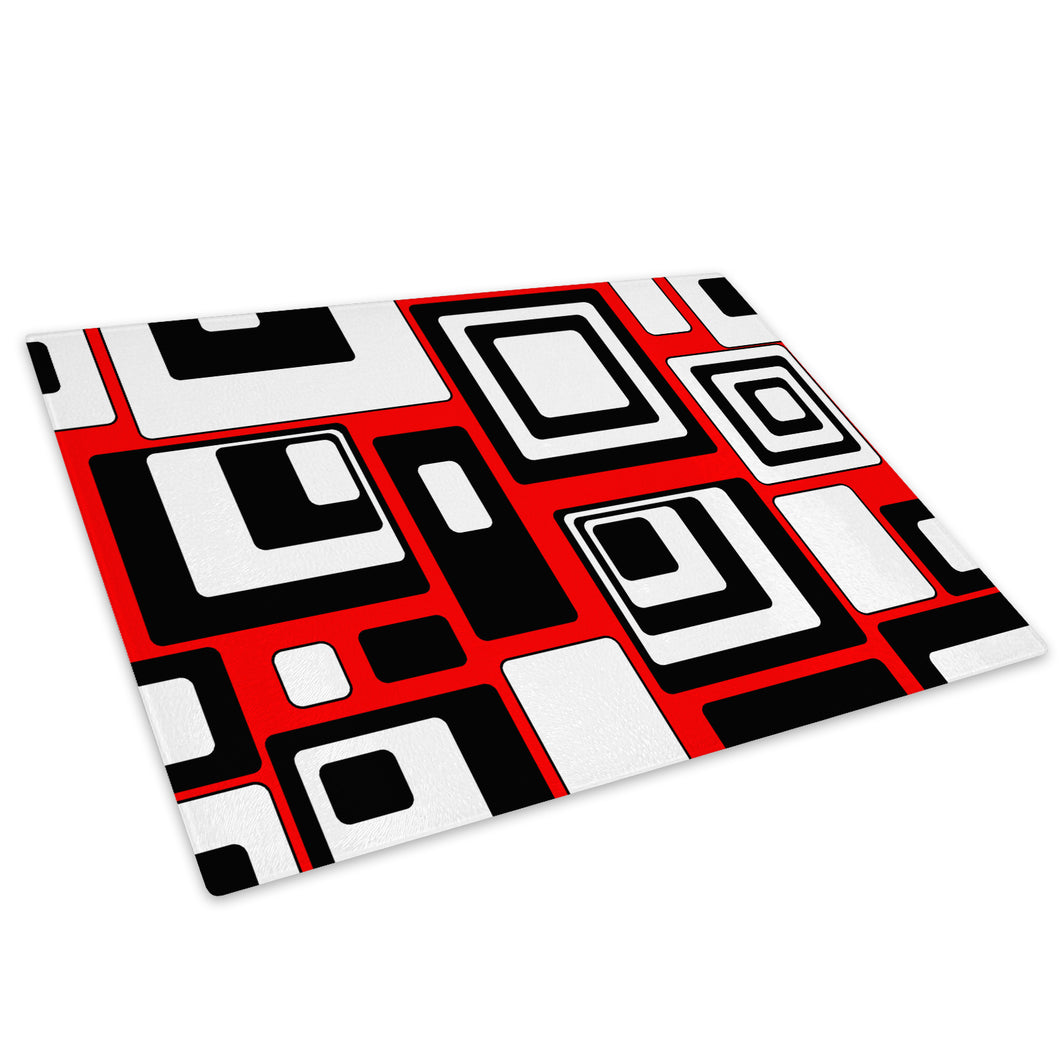 Red Black White Cool Glass Chopping Board Kitchen Worktop Saver Protector - AB490-Abstract Chopping Board-WhatsOnYourWall