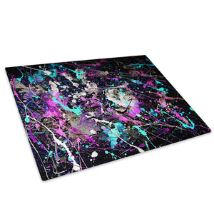 Colourful Cool Funky Glass Chopping Board Kitchen Worktop Saver Protector - AB499-Abstract Chopping Board-WhatsOnYourWall