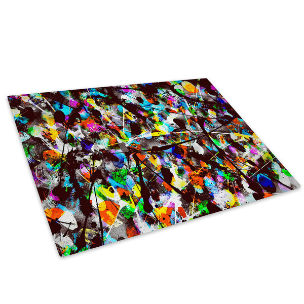 Colourful Cool Funky Glass Chopping Board Kitchen Worktop Saver Protector - AB500-Abstract Chopping Board-WhatsOnYourWall