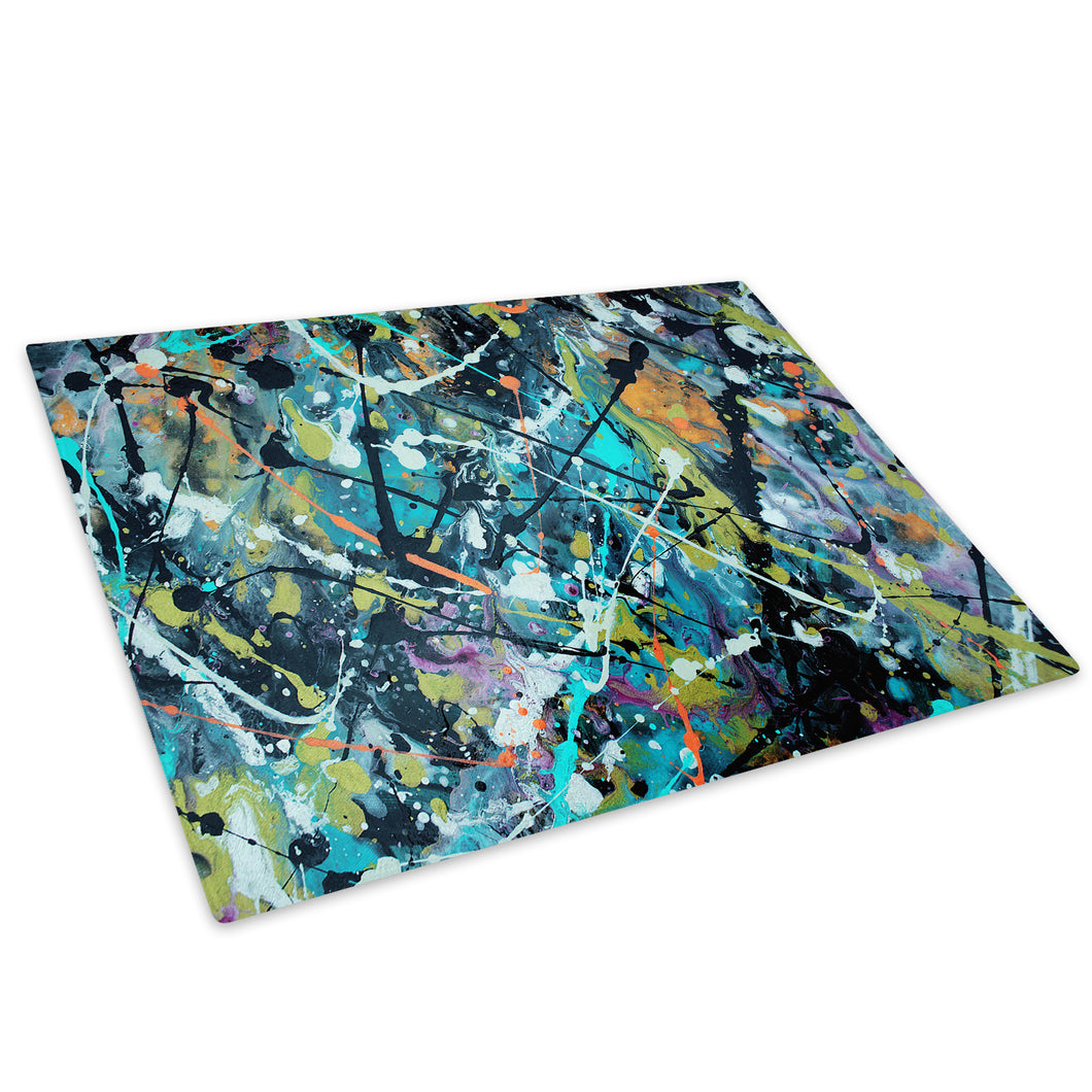 Colourful Cool Funky Glass Chopping Board Kitchen Worktop Saver Protector - AB511-Abstract Chopping Board-WhatsOnYourWall