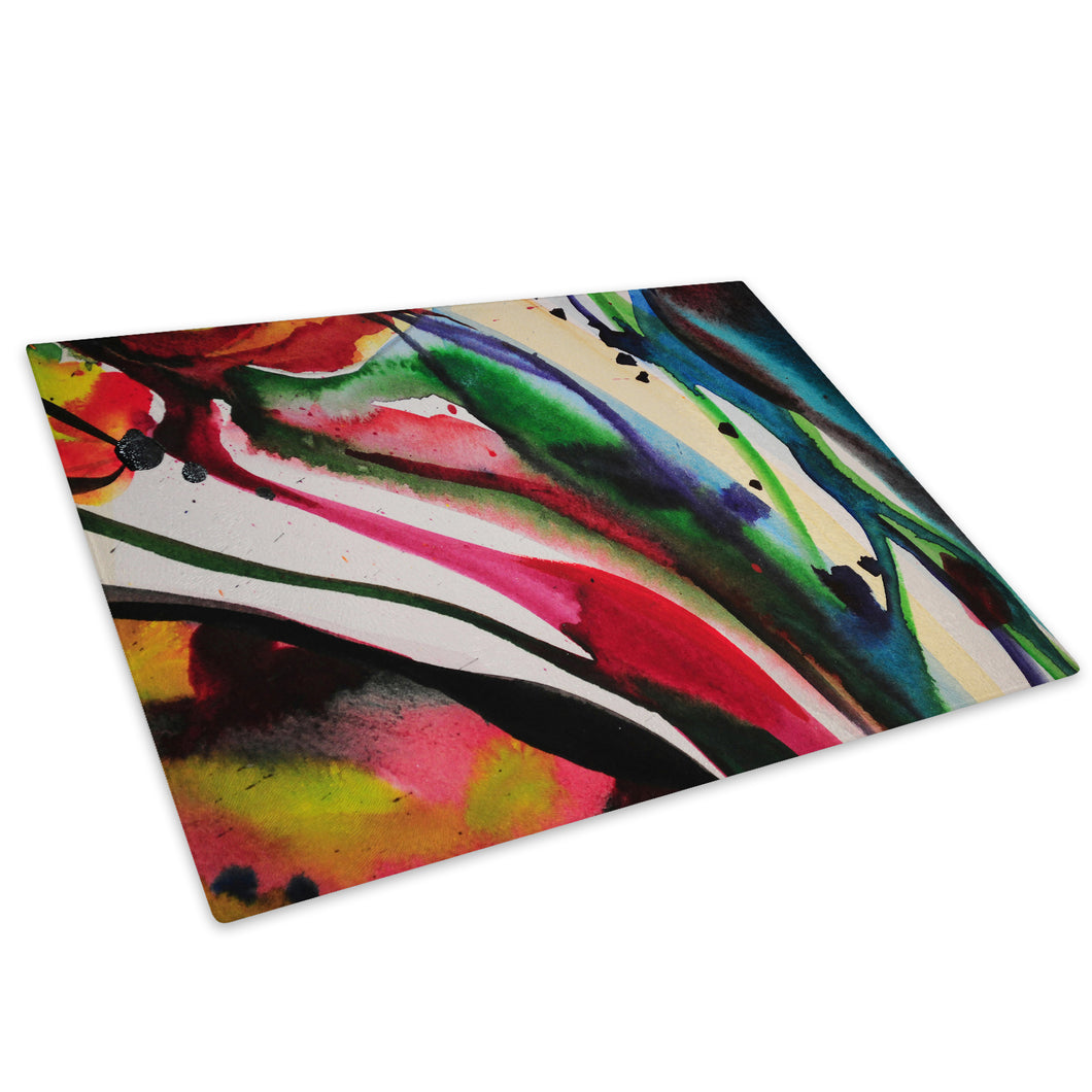 Colourful Cool Funky Glass Chopping Board Kitchen Worktop Saver Protector - AB525-Abstract Chopping Board-WhatsOnYourWall
