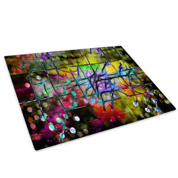 Colourful Cool Funky Glass Chopping Board Kitchen Worktop Saver Protector - AB530-Abstract Chopping Board-WhatsOnYourWall