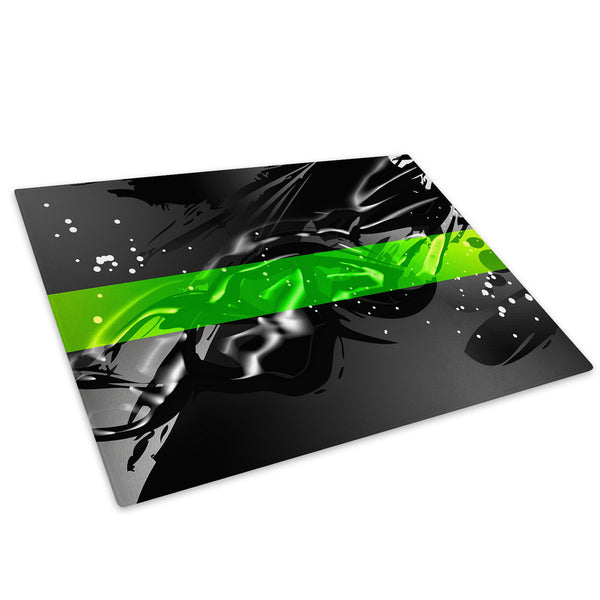 Green Black Grey Cool Glass Chopping Board Kitchen Worktop Saver Protector - AB536-Abstract Chopping Board-WhatsOnYourWall