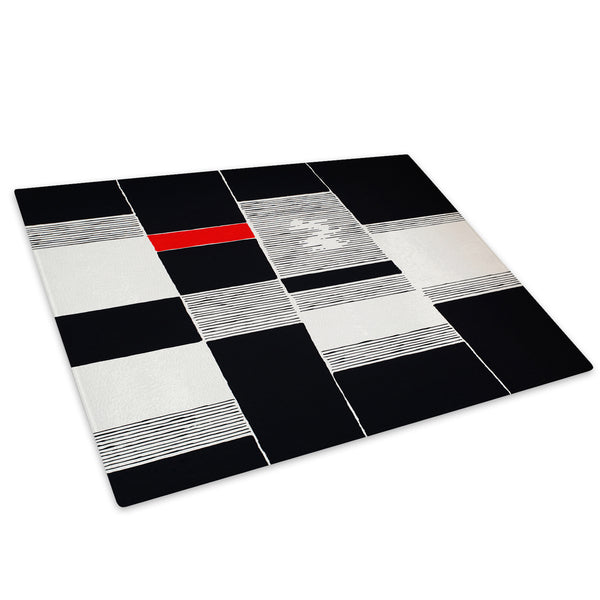 Red Black White Cool Glass Chopping Board Kitchen Worktop Saver Protector - AB545-Abstract Chopping Board-WhatsOnYourWall