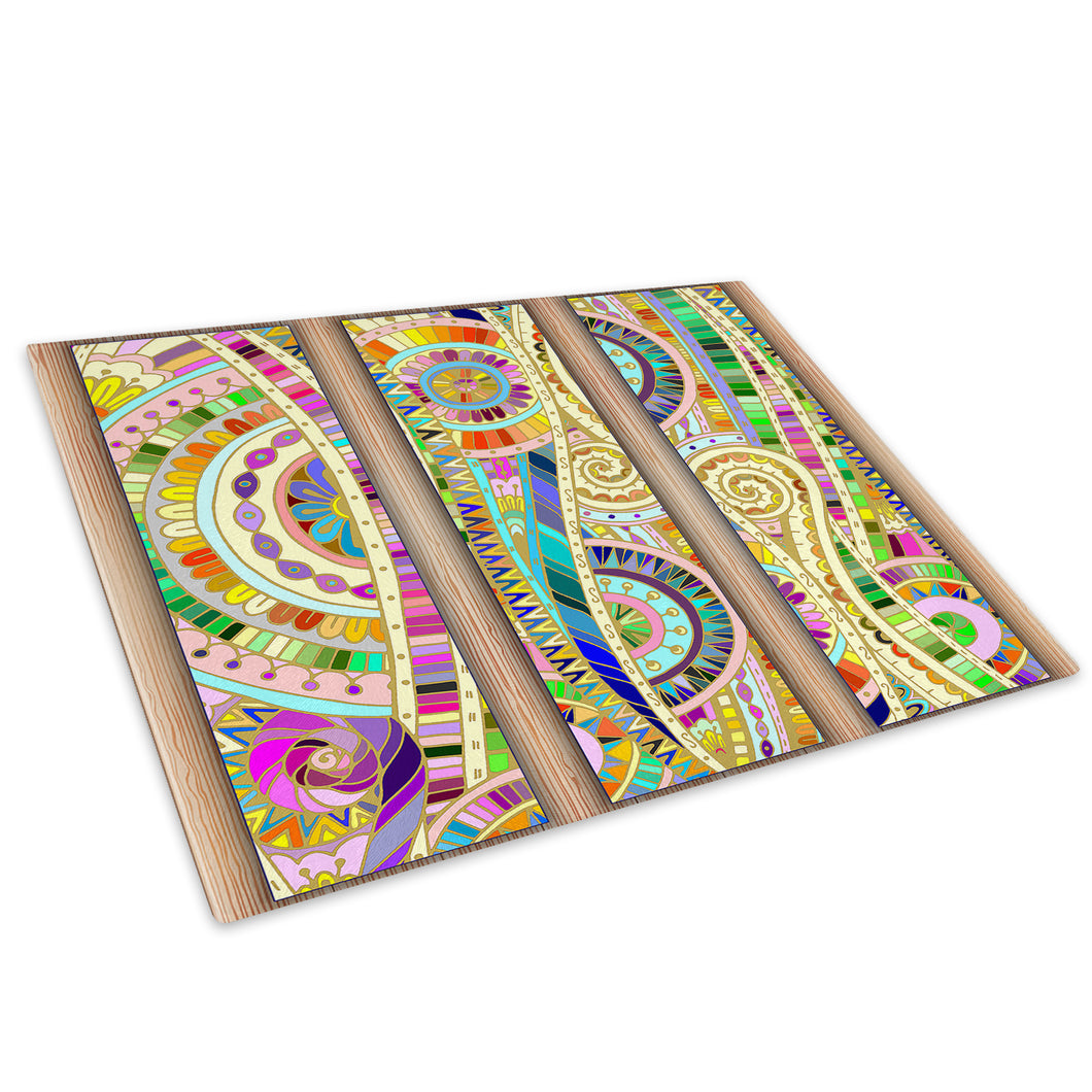 Colourful Cool Retro Glass Chopping Board Kitchen Worktop Saver Protector - AB552-Abstract Chopping Board-WhatsOnYourWall