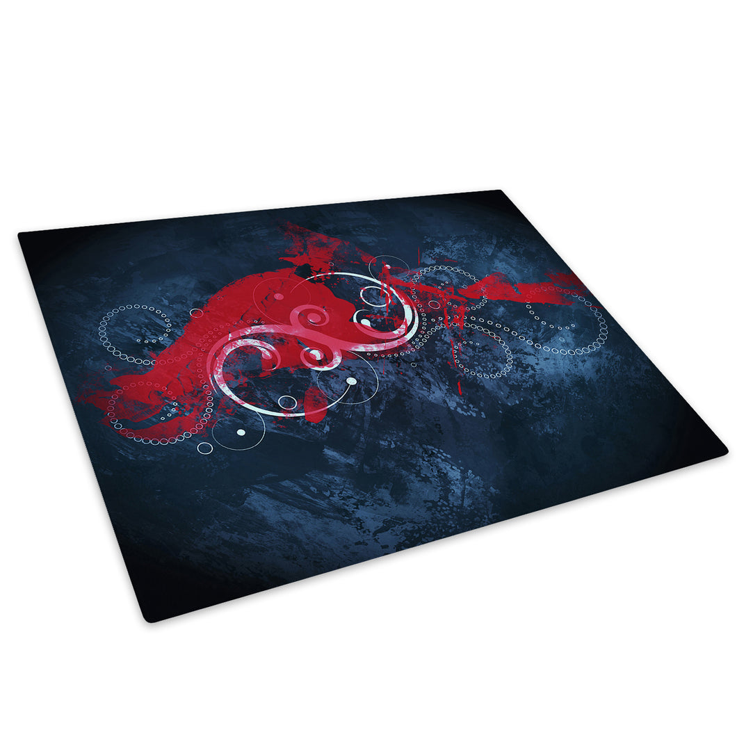 Red White Black Cool Glass Chopping Board Kitchen Worktop Saver Protector - AB553-Abstract Chopping Board-WhatsOnYourWall