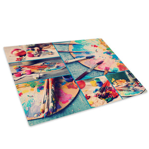 Colourful Cool Retro Glass Chopping Board Kitchen Worktop Saver Protector - AB555-Abstract Chopping Board-WhatsOnYourWall