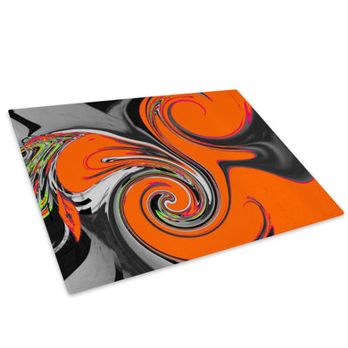 Orange Black Grey Cool Glass Chopping Board Kitchen Worktop Saver Protector - AB559-Abstract Chopping Board-WhatsOnYourWall