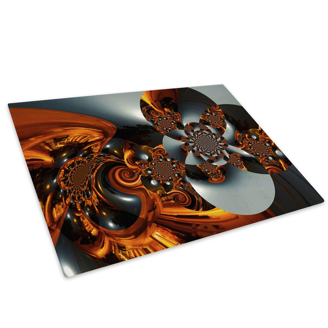 Orange Black Grey Cool Glass Chopping Board Kitchen Worktop Saver Protector - AB562-Abstract Chopping Board-WhatsOnYourWall