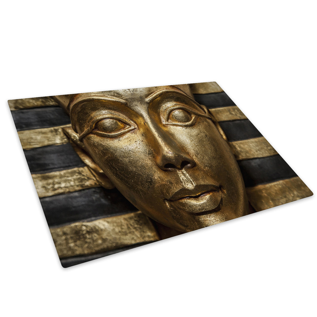 Gold Black Egyptian Glass Chopping Board Kitchen Worktop Saver Protector - AB568-Abstract Chopping Board-WhatsOnYourWall