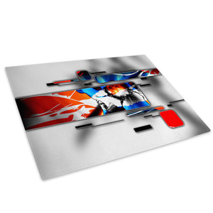 Blue Orange Black Cool Glass Chopping Board Kitchen Worktop Saver Protector - AB583-Abstract Chopping Board-WhatsOnYourWall