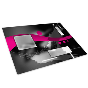 Pink Black Grey White Glass Chopping Board Kitchen Worktop Saver Protector - AB585-Abstract Chopping Board-WhatsOnYourWall