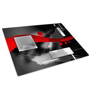 Red Black Grey White Glass Chopping Board Kitchen Worktop Saver Protector - AB588-Abstract Chopping Board-WhatsOnYourWall