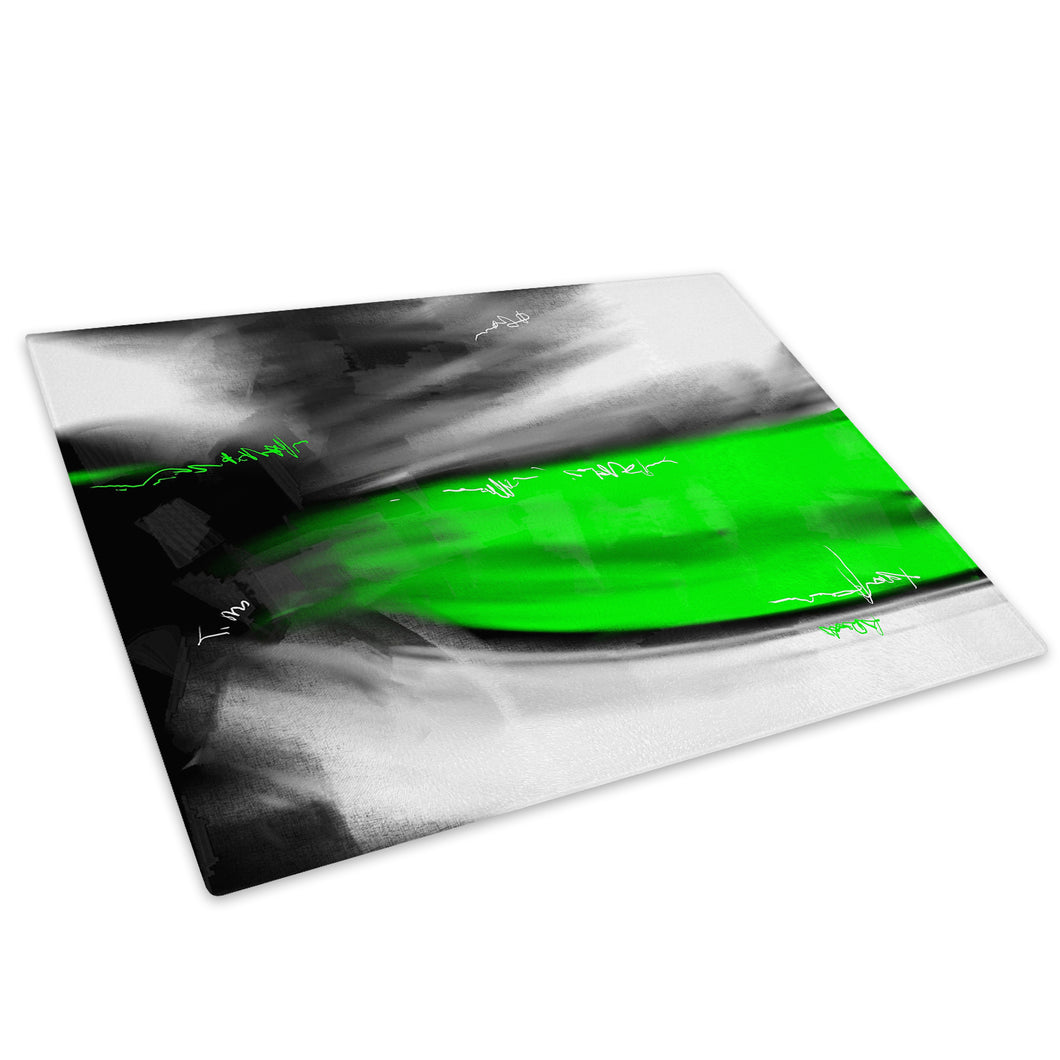 Green Black White Cool Glass Chopping Board Kitchen Worktop Saver Protector - AB589-Abstract Chopping Board-WhatsOnYourWall