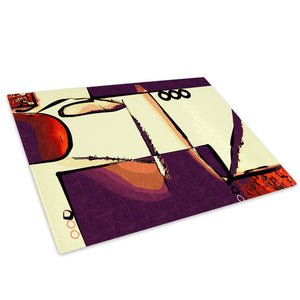 Red Orange Purple Cool Glass Chopping Board Kitchen Worktop Saver Protector - AB591-Abstract Chopping Board-WhatsOnYourWall