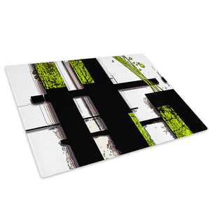 Green Black White Cool Glass Chopping Board Kitchen Worktop Saver Protector - AB603-Abstract Chopping Board-WhatsOnYourWall