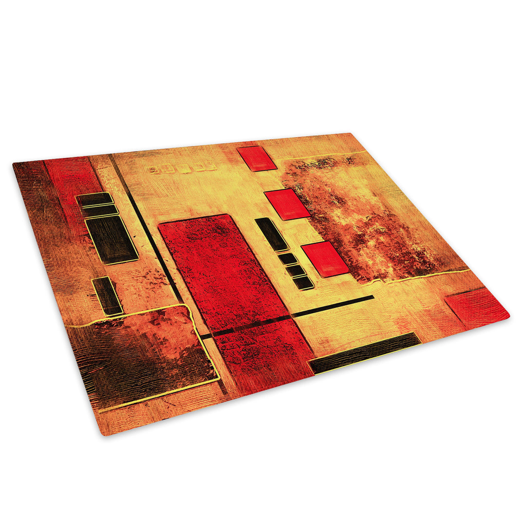 Orange Red Black Cool Glass Chopping Board Kitchen Worktop Saver Protector - AB610-Abstract Chopping Board-WhatsOnYourWall