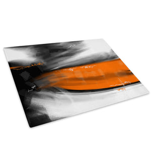 Orange Grey Black Cool Glass Chopping Board Kitchen Worktop Saver Protector - AB612-Abstract Chopping Board-WhatsOnYourWall