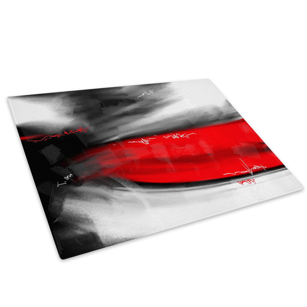 Red Grey Black Cool Glass Chopping Board Kitchen Worktop Saver Protector - AB613-Abstract Chopping Board-WhatsOnYourWall