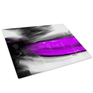 Purple Grey Black Cool Glass Chopping Board Kitchen Worktop Saver Protector - AB615-Abstract Chopping Board-WhatsOnYourWall