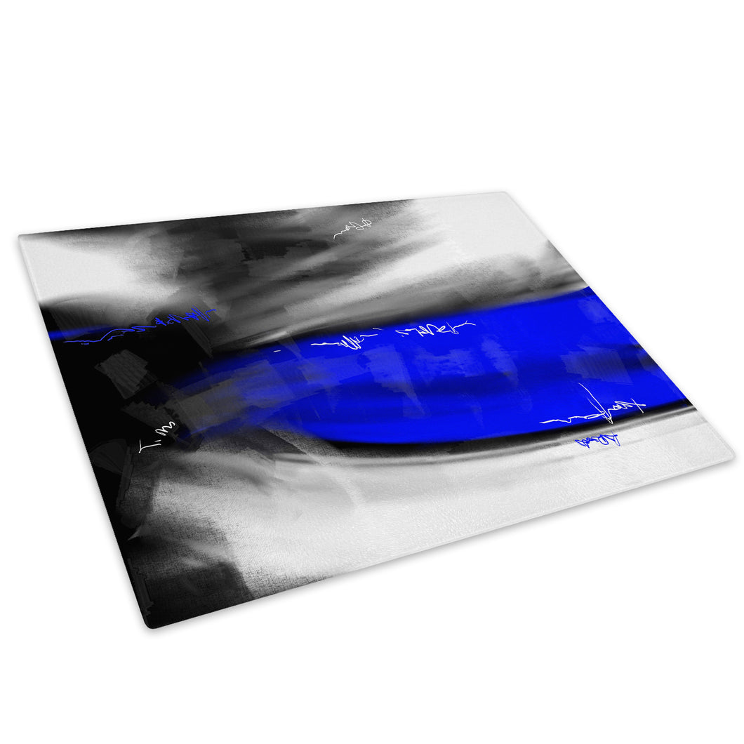 Blue Grey Black Cool Glass Chopping Board Kitchen Worktop Saver Protector - AB616-Abstract Chopping Board-WhatsOnYourWall