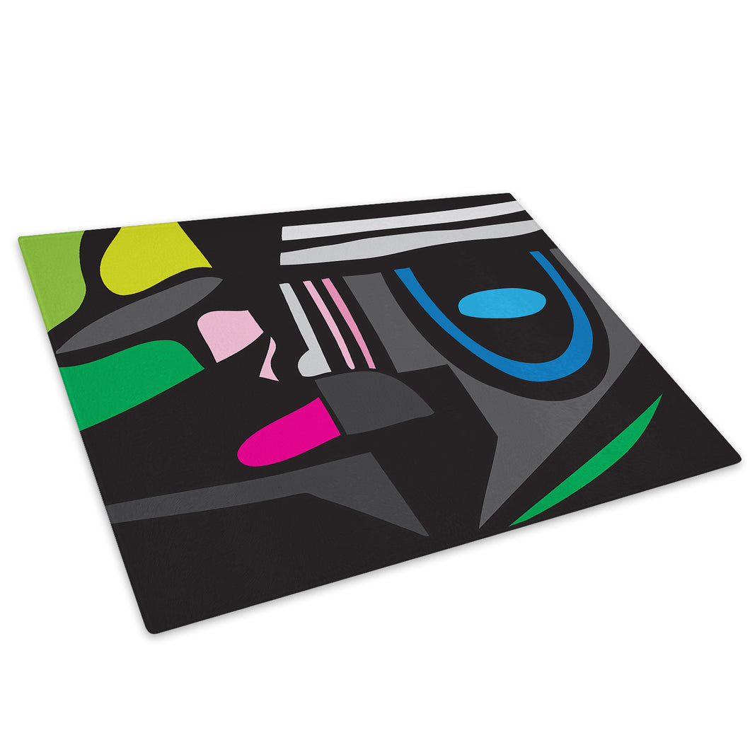 Colourful Retro Cool Glass Chopping Board Kitchen Worktop Saver Protector - AB619-Abstract Chopping Board-WhatsOnYourWall