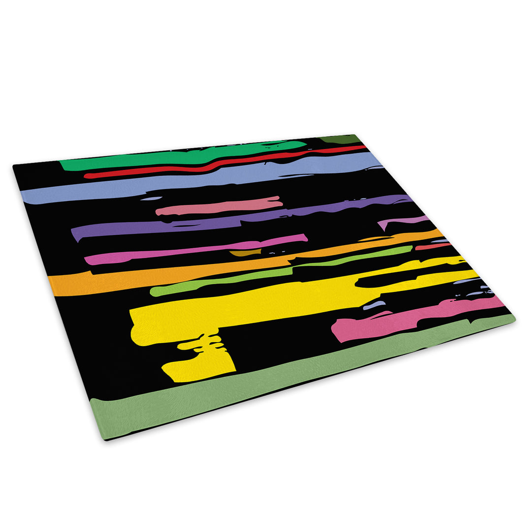 Colourful Retro Cool Glass Chopping Board Kitchen Worktop Saver Protector - AB621-Abstract Chopping Board-WhatsOnYourWall
