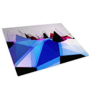 Blue Pink Purple Grey Glass Chopping Board Kitchen Worktop Saver Protector - AB640-Abstract Chopping Board-WhatsOnYourWall