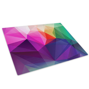 Colourful Geometric Glass Chopping Board Kitchen Worktop Saver Protector - AB652-Abstract Chopping Board-WhatsOnYourWall