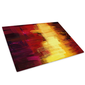 Purple Orange Yellow Glass Chopping Board Kitchen Worktop Saver Protector - AB654-Abstract Chopping Board-WhatsOnYourWall