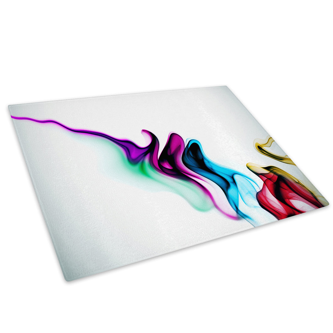 Colourful Retro Funky Glass Chopping Board Kitchen Worktop Saver Protector - AB655-Abstract Chopping Board-WhatsOnYourWall