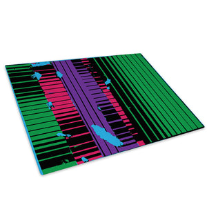 Green Pink Purple Black Glass Chopping Board Kitchen Worktop Saver Protector - AB657-Abstract Chopping Board-WhatsOnYourWall