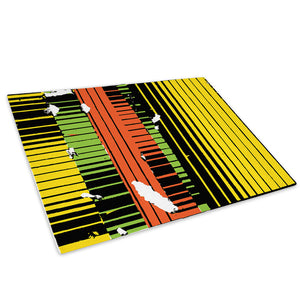 Yellow Green Orange Glass Chopping Board Kitchen Worktop Saver Protector - AB658-Abstract Chopping Board-WhatsOnYourWall