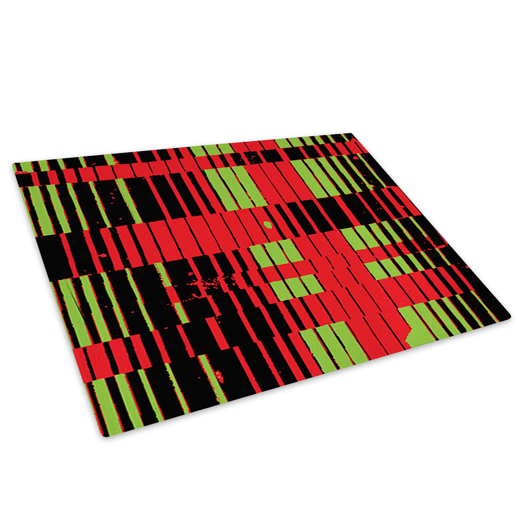 Red Green Black Cool Glass Chopping Board Kitchen Worktop Saver Protector - AB660-Abstract Chopping Board-WhatsOnYourWall