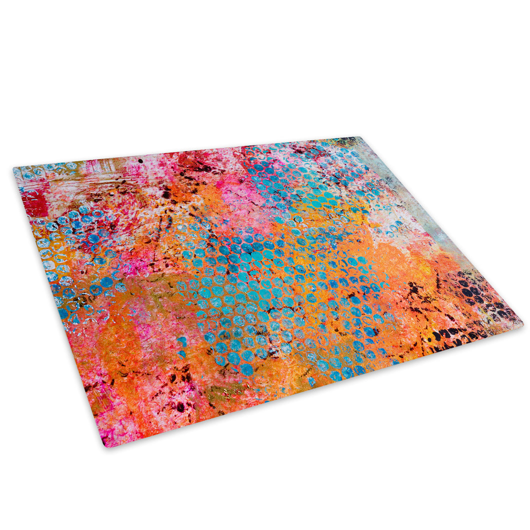 Colourful Cool Grunge Glass Chopping Board Kitchen Worktop Saver Protector - AB672-Abstract Chopping Board-WhatsOnYourWall