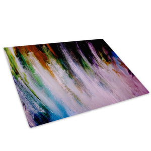 Retro Colourful Cool Glass Chopping Board Kitchen Worktop Saver Protector - AB673-Abstract Chopping Board-WhatsOnYourWall