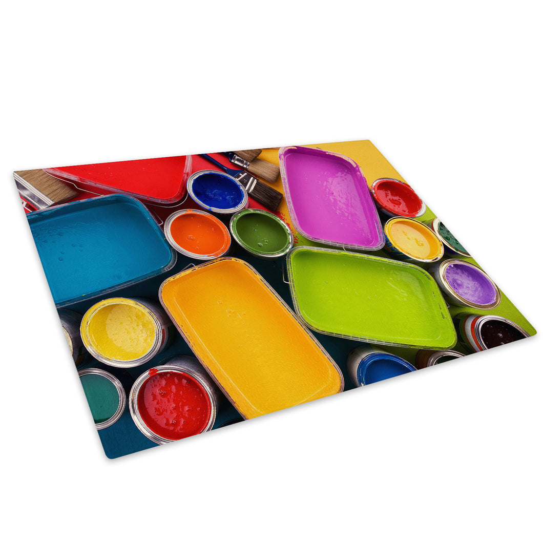 Colourful Cool Funky Glass Chopping Board Kitchen Worktop Saver Protector - AB676-Abstract Chopping Board-WhatsOnYourWall