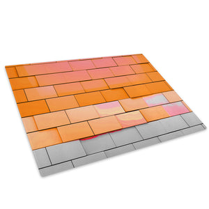 Orange Grey Cool Funky Glass Chopping Board Kitchen Worktop Saver Protector - AB690-Abstract Chopping Board-WhatsOnYourWall