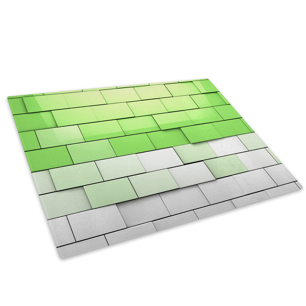Green Grey Cool Funky Glass Chopping Board Kitchen Worktop Saver Protector - AB691-Abstract Chopping Board-WhatsOnYourWall